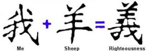 The Chinese symbol for Righteousness