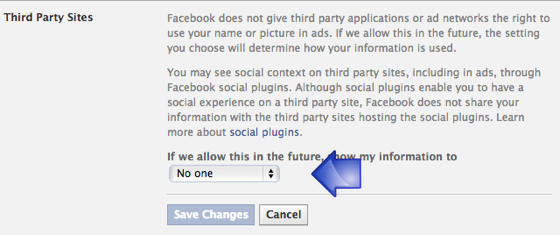 Facebook Third Party Sites
