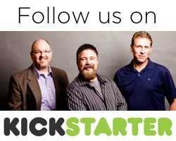 follow us on kickstarter